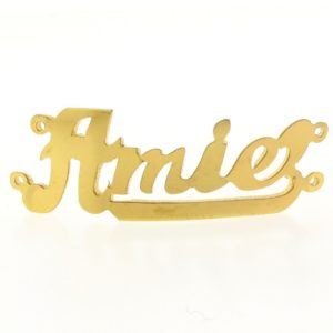 # 9741 - 14K Gold Filled Name Plate For 2 Line Bracelet - Amie