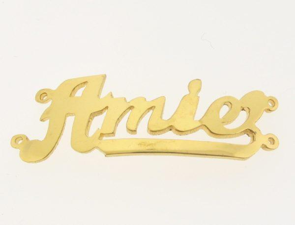 # 9741 - 14K Gold Filled Name Plate For 2 Line Bracelet - Amie
