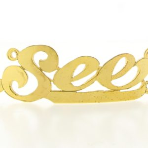 # 9744 - 14K Gold Filled Name Plate For 2 Line Bracelet - See