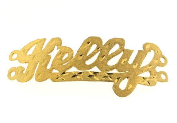 # 9746 - 14K Gold Filled Name Plate For 2 Line Bracelet - Kelly