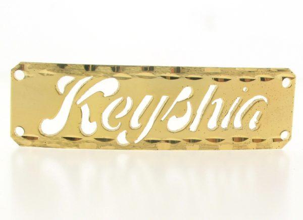 # 9747 - 14K Gold Filled Name Plate For 2 Line Bracelet - Keyshia