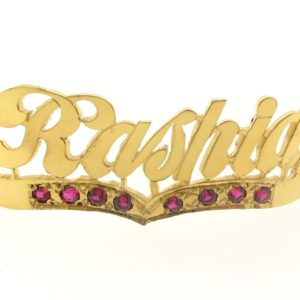 # 9753 - 14K Gold Filled Name Plate For 2 Line Bracelet - Rashid