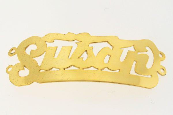 # 9754 - 14K Gold Filled Name Plate For 2 Line Bracelet - Susan