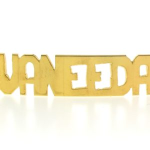 # 9755 - 14K Gold Filled Name Plate For 2 Line Bracelet - VANEEDA