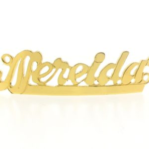 # 9751 - 14K Gold Filled Name Plate For 2 Line Bracelet - Nereida