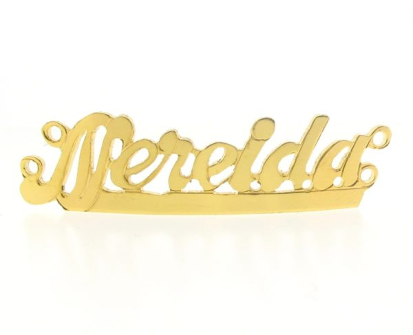 # 9751 - 14K Gold Filled Name Plate For 2 Line Bracelet - Nereida