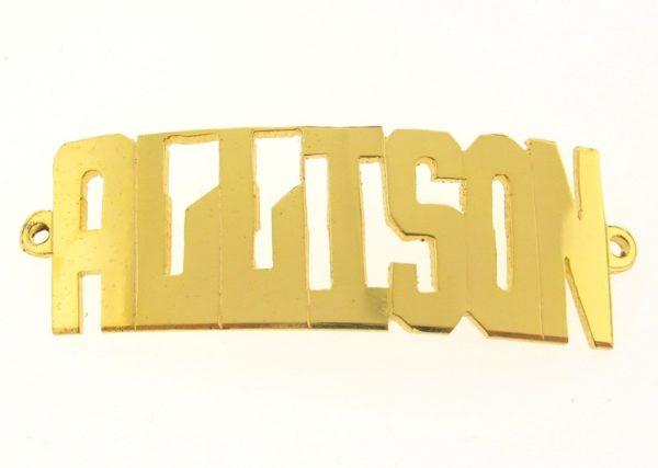 # 9756 - 14K Gold Filled Name Plate For Bracelet - ALLISON