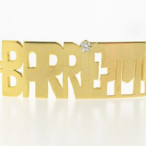 # 9757 - 14K Gold Filled Name Plate For Bracelet - BARRETT