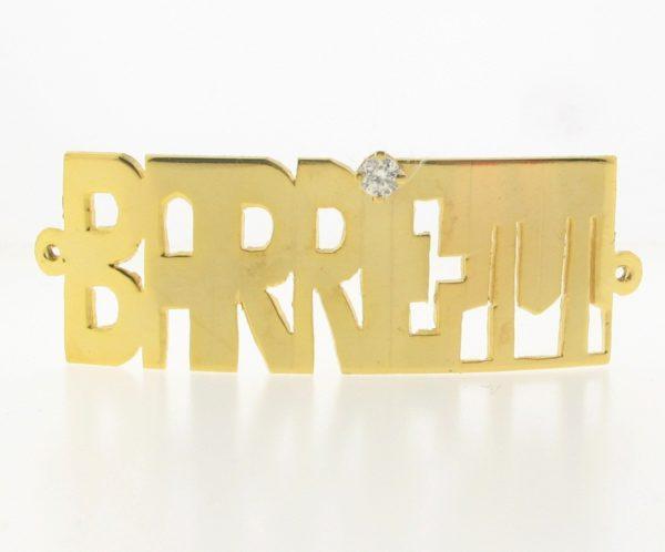 # 9757 - 14K Gold Filled Name Plate For Bracelet - BARRETT