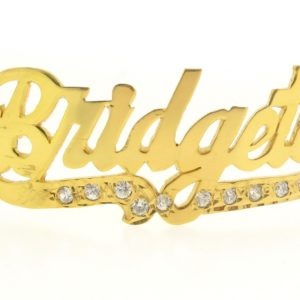 # 9758 - 14K Gold Filled Name Plate For Bracelet - Bridgett