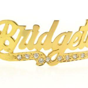 # 9758 - 14K Gold Filled Name Plate For Bracelet - Bridgett