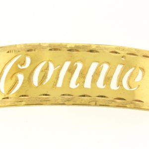 # 9759 - 14K Gold Filled Name Plate For Bracelet - Connie