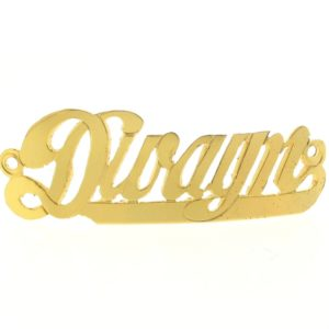 # 9762 - 14K Gold Filled Name Plate For Bracelet - Dwayn