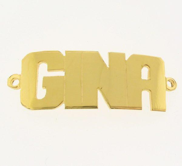 # 9763 - 14K Gold Filled Name Plate For Bracelet - GINA