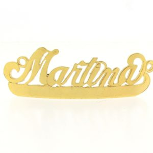 # 9764 - 14K Gold Filled Name Plate For Bracelet - Martina