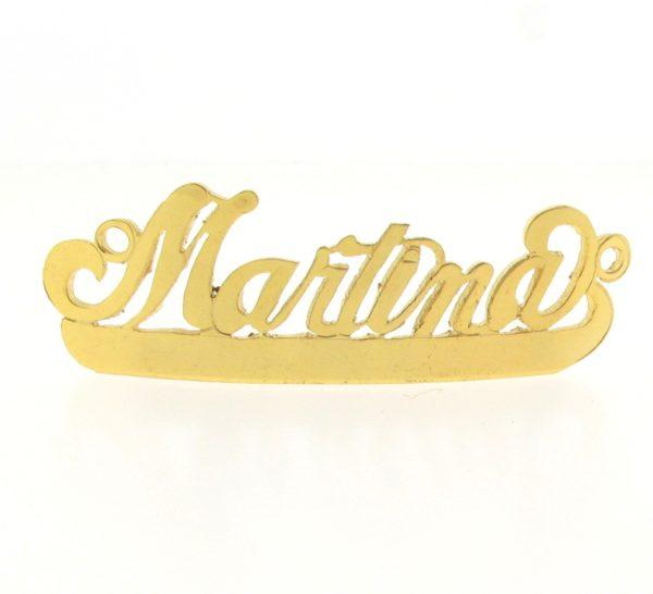 # 9764 - 14K Gold Filled Name Plate For Bracelet - Martina