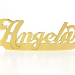 # 9766 - 14K Gold Filled Name Plate For Bracelet - Angela