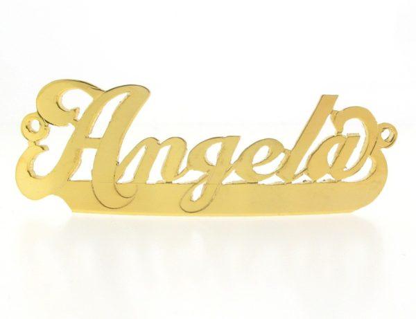 # 9766 - 14K Gold Filled Name Plate For Bracelet - Angela