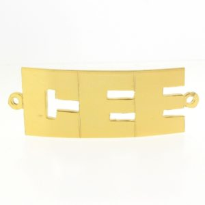 # 9767 - 14K Gold Filled Name Plate For Bracelet - CEE