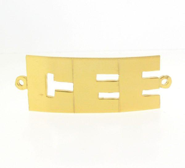 # 9767 - 14K Gold Filled Name Plate For Bracelet - CEE