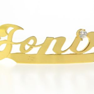 # 9768 - 14K Gold Filled Name Plate For Bracelet - Jona