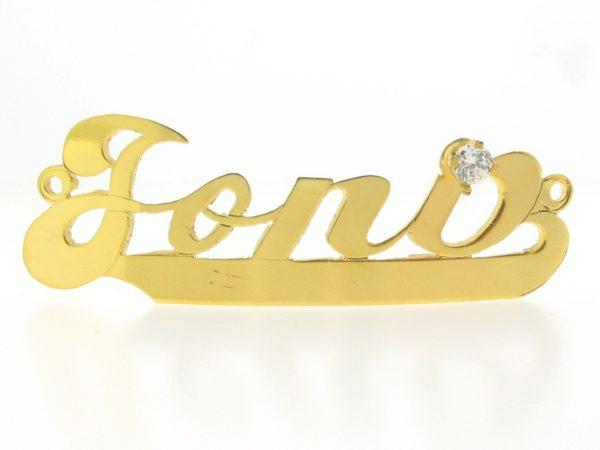 # 9768 - 14K Gold Filled Name Plate For Bracelet - Jona