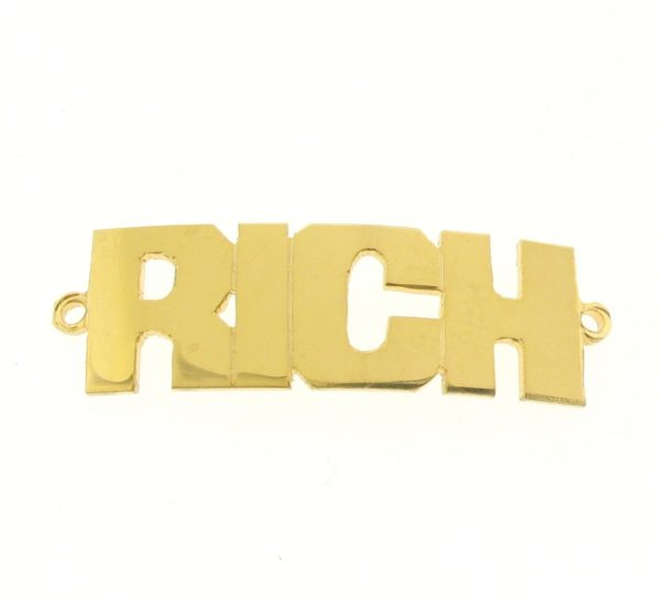 # 9770 - 14K Gold Filled Name Plate For Bracelet - RICH