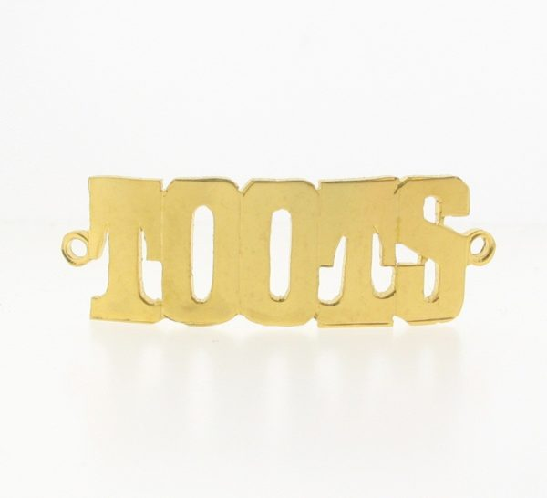 # 9771 - 14K Gold Filled Name Plate For Bracelet - TOOTS
