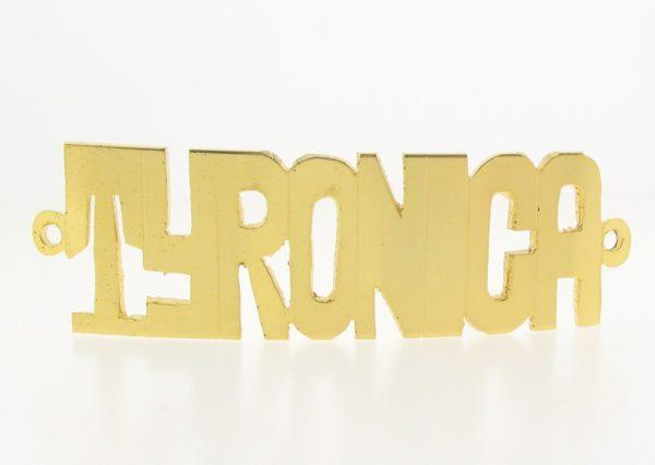 # 9772 - 14K Gold Filled Name Plate For Bracelet - TYRONICA
