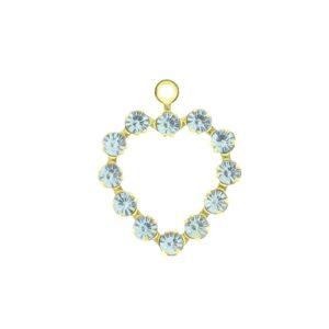 37212 - Swarovski Multi Stone Heart - Aquamarine