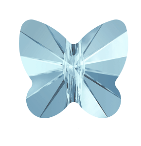5754 - 8mm Swarovski Butterfly Bead - Aquamarine