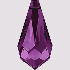 6000 - 15x7.5mm Swarovski Crystal Drop Pendants - Amethyst