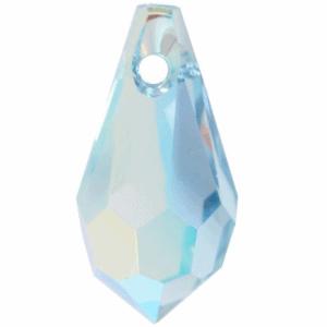6000 - 15x7.5mm Swarovski Crystal Drop Pendants - Aquamarine AB