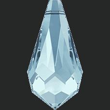 6000 - 15x7.5mm Swarovski Crystal Drop Pendants - Aquamarine
