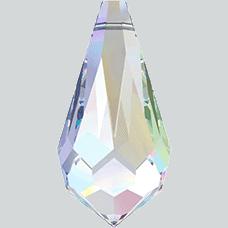 6000 - 15x7.5mm Swarovski Crystal Drop Pendants - Crystal AB