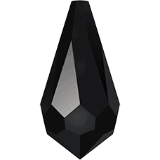6000 - 15x7.5mm Swarovski Crystal Drop Pendants - Jet