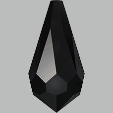 6000 - 18x9mm Swarovski Crystal Drop Pendants - Jet
