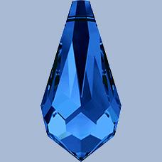 6000 - 15x7.5mm Swarovski Crystal Drop Pendants - Sapphire