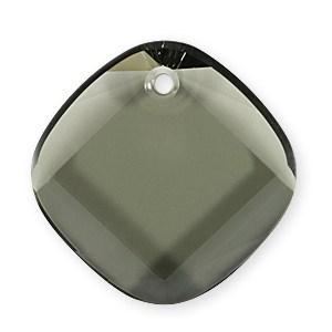 6058 - 25mm Swarovski Metro Pendant - Black Diamond
