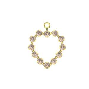 37212 - Swarovski Multi Stone Heart - Light Amethyst