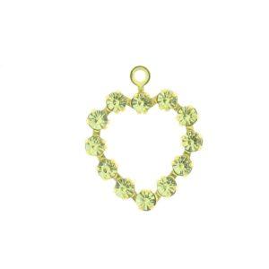 37212 - Swarovski Multi Stone Heart - Jonquil