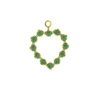 37212 - Swarovski Multi Stone Heart - Green Turmaline