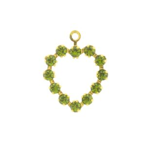 37212 - Swarovski Multi Stone Heart - Olivine