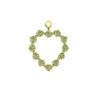 37212 - Swarovski Multi Stone Heart - Black Diamond