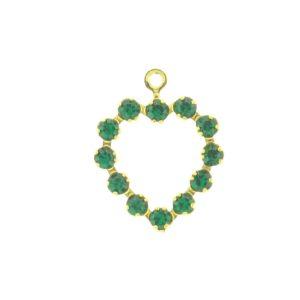 37212 - Swarovski Multi Stone Heart - Emerald