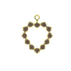 37212 - Swarovski Multi Stone Heart - Siam