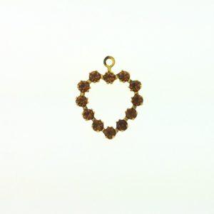 37212 - Swarovski Multi Stone Heart - Topaz