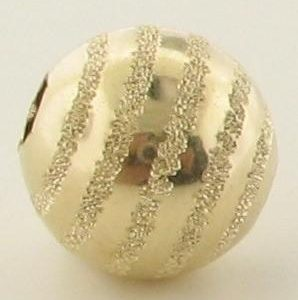 1718 - 8mm Gold Filled Five Line Fancy Round Bead