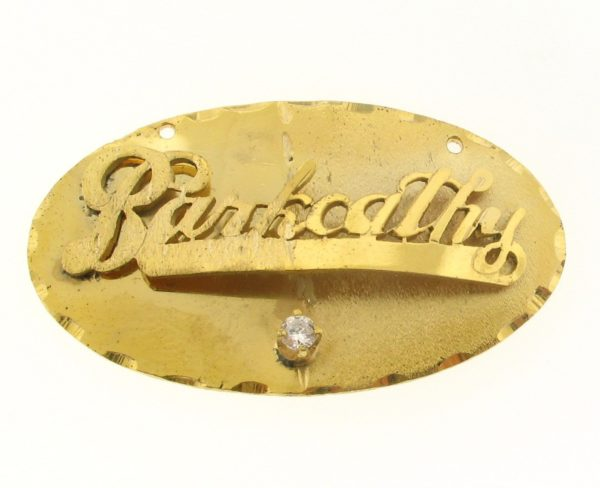 # 9623 - 14K Gold Filled Name Plate For Necklace - Barkcathy