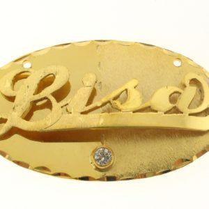 # 9624 - 14K Gold Filled Name Plate For Necklace - Bisa